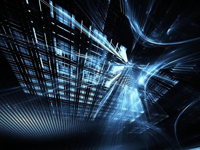 Abstract Technology Illustration, 3D Illustration Stock Illustration