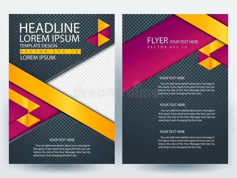 Abstract Vector Modern Flyers Brochure Design Templates Stock Vector - contemporary flyer