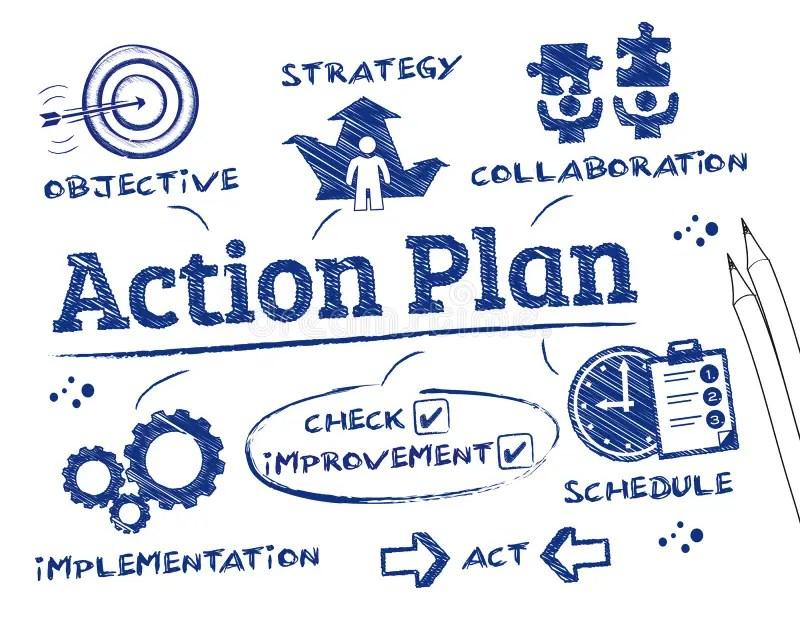 Action Plan stock illustration Illustration of advice - 47724721
