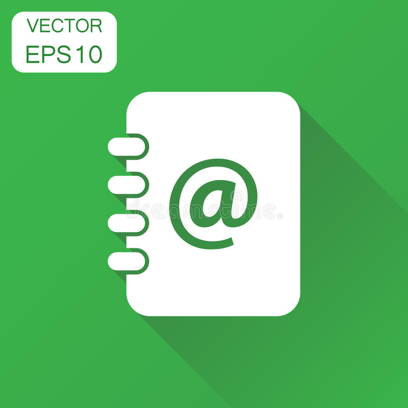 Address Book Icon Business Concept Contact Note Pictogram Vect