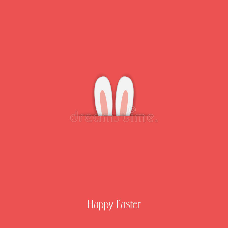 Adorable Happy Easter Postcard Template With Bunny Stock Vector