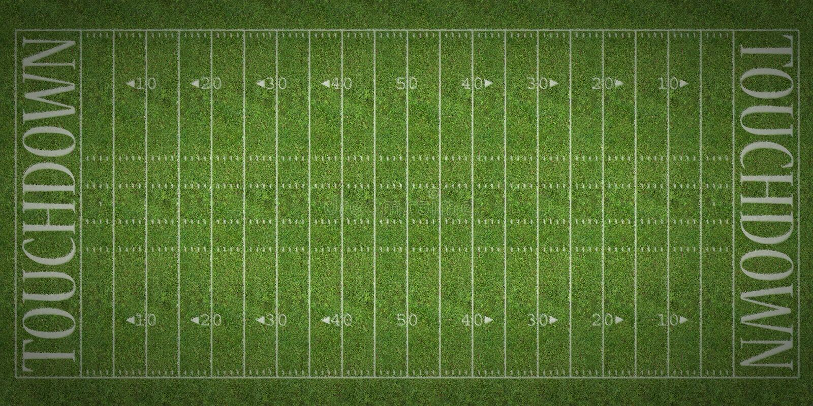 american football field stock photo image of turf arena
