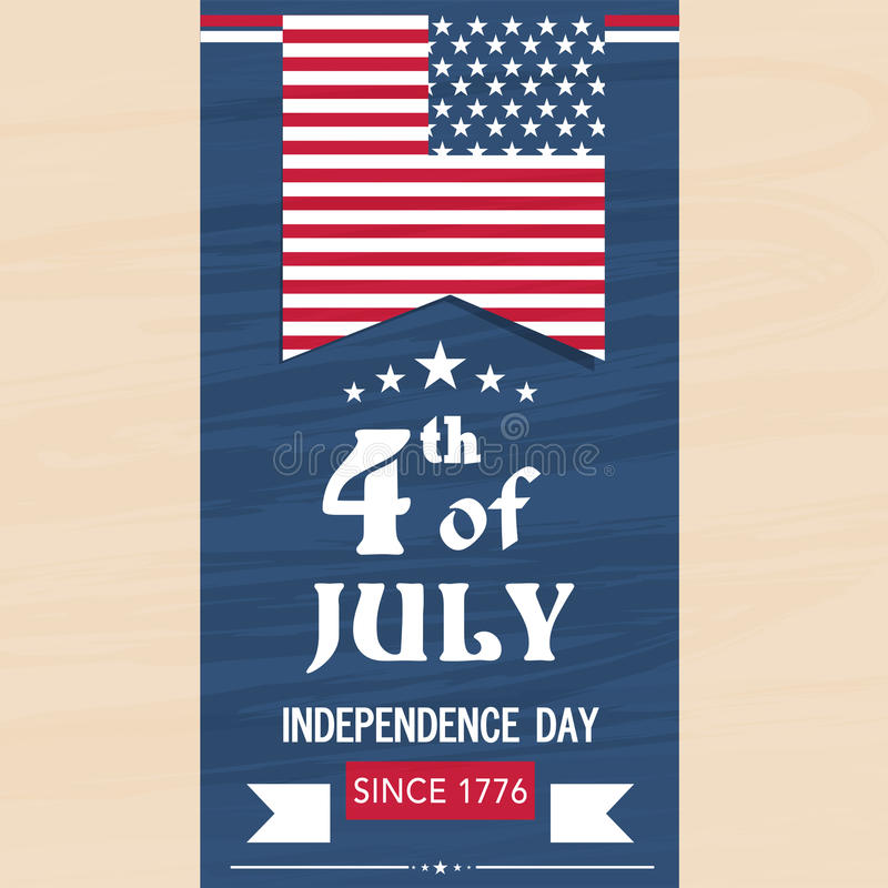 American Independence Day Flyer Or Template Stock Illustration - independence day flyer