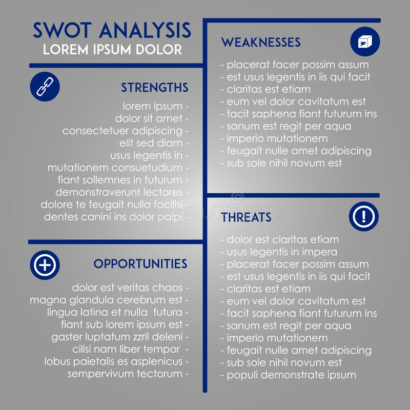 Analysis Template - SWOT In Marketing Stock Vector - Illustration of - Product Swot Analysis Template
