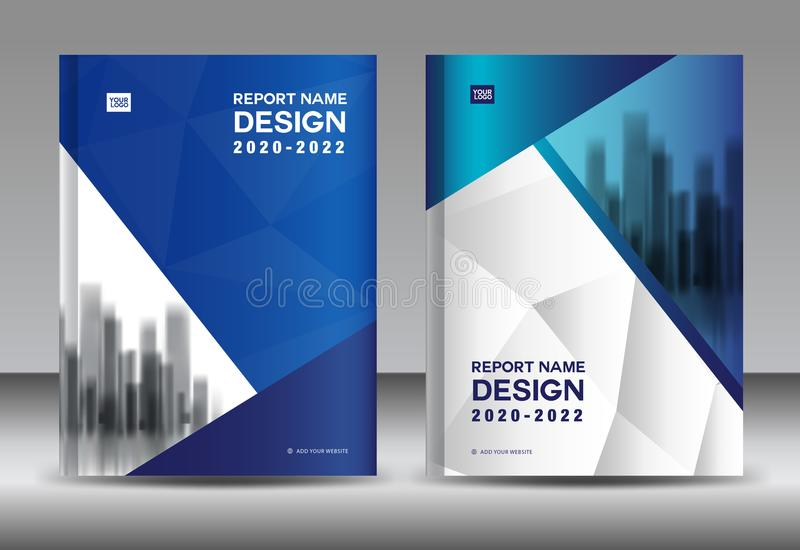 Annual Report Brochure Flyer Template, Blue Cover Design, Business - advertisement brochure