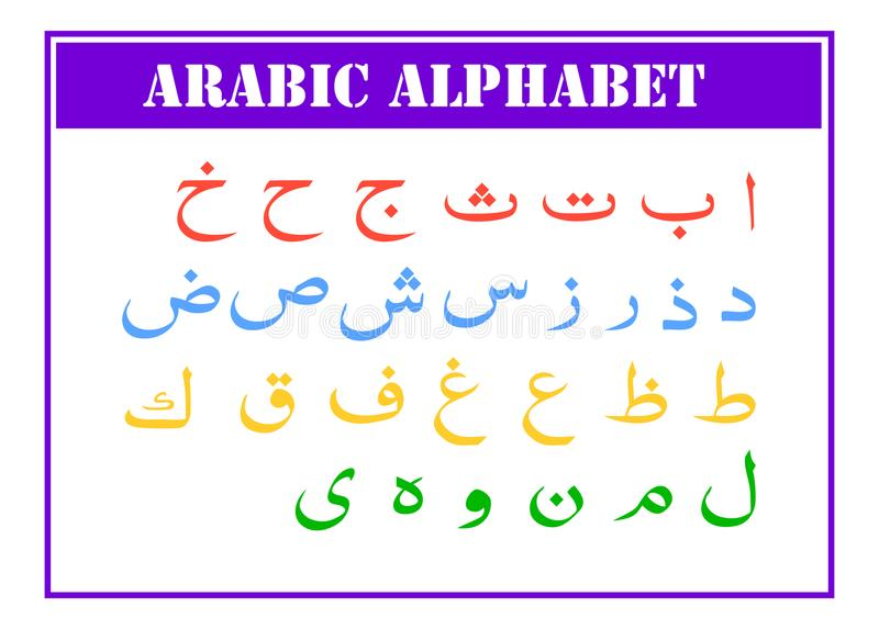 Arabic Alphabet Graphic Font For Your Design Stock Vector