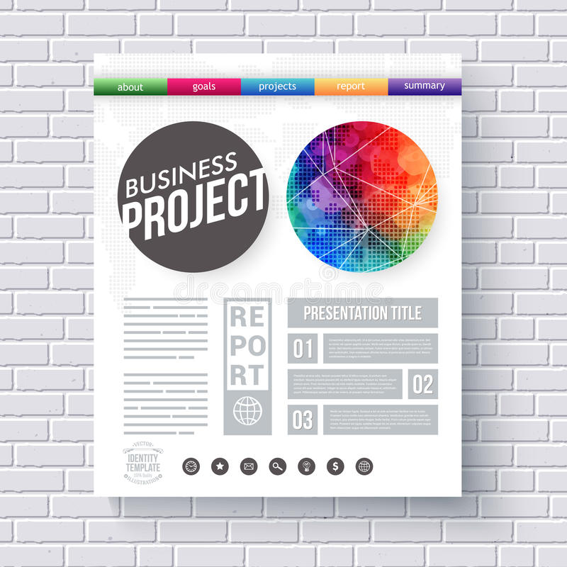 Artistic Design Template For A Business Project Stock Vector - Project Design Template