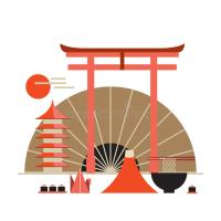 Asia Design Elements Collection Welcome To Japan Banner ...