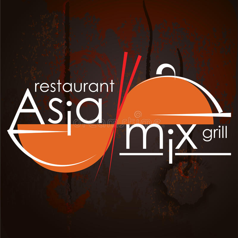 Asian food logo stock vector Illustration of design - 90156240