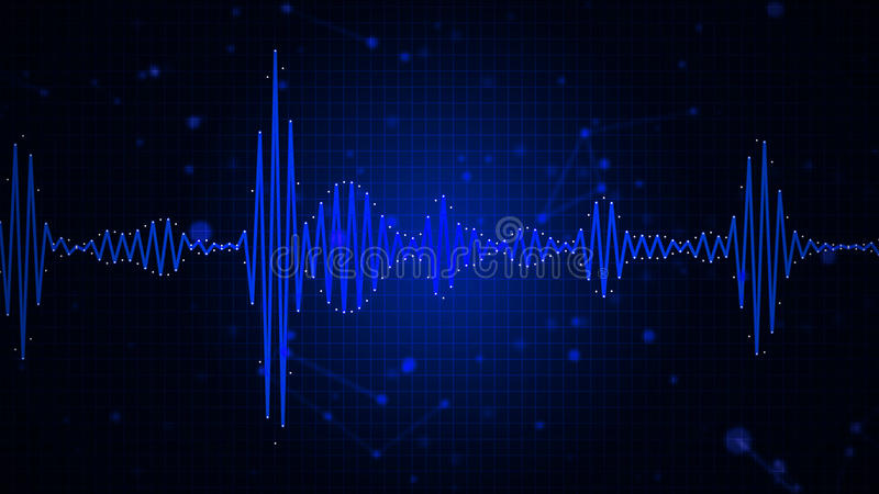 Audio Spectrum Waveform Abstract Graphic Display Stock Illustration