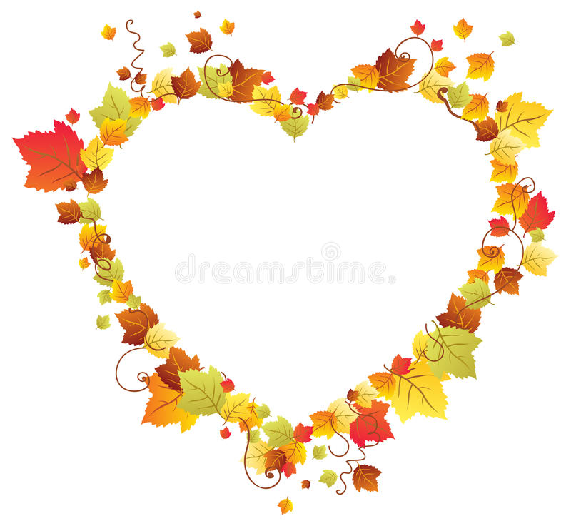 Maple Leaf Wallpaper For Fall Season Autumn Leaves In The Heart Frame Stock Photo Image 26948430