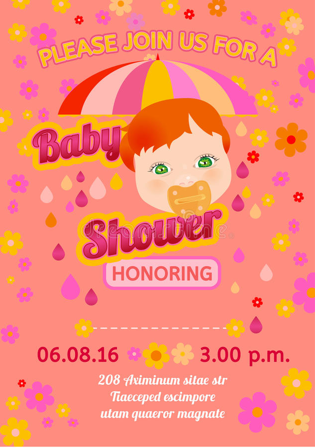 Baby shower message card stock vector Illustration of frame - 56837749