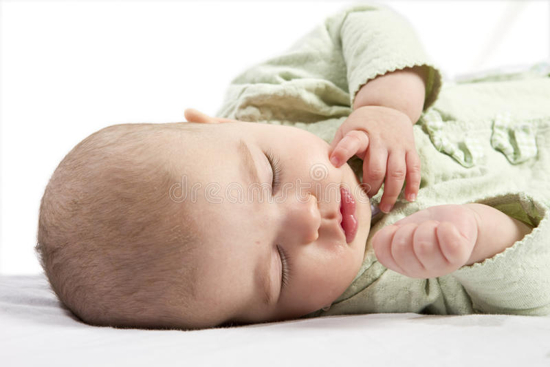Newborn Car Seat Road Trip Cute Baby Boy Sleeping Stock Image Image Of Contentment