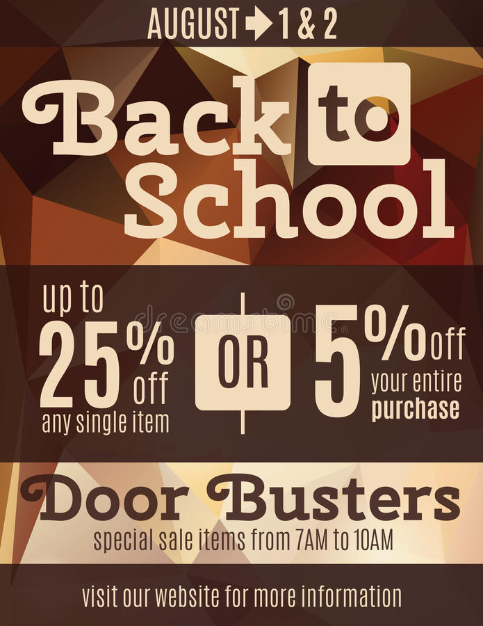 Back To School Flyer Template Stock Vector - Illustration of