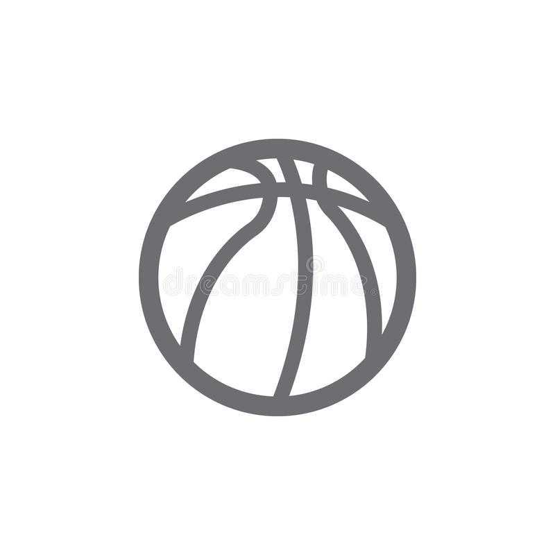 Ball For Basketball Icon Simple Element Illustration Ball For - black and white basketball template