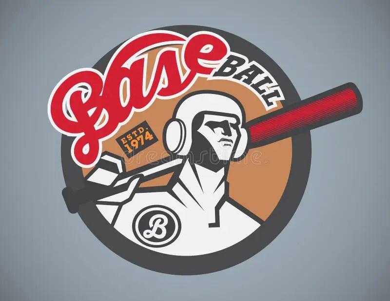 Baseball Logo Design Template Stock Vector - Illustration of icons