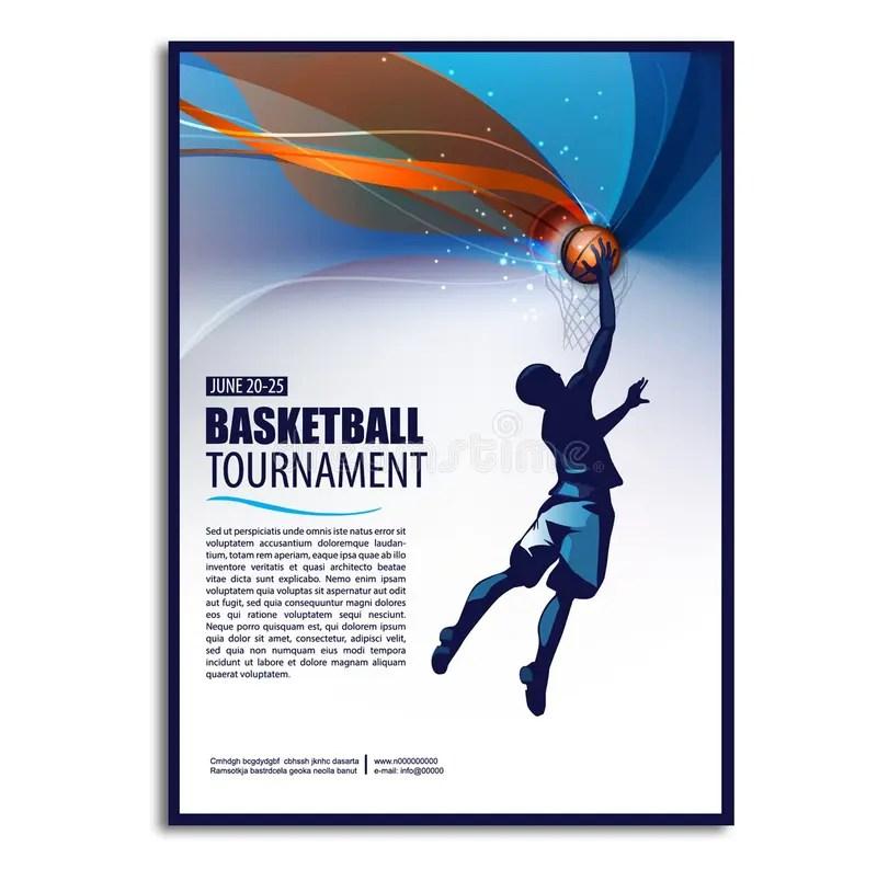 Basketball Illustration Player Sport Concept Poster, Flyer - basketball flyer example