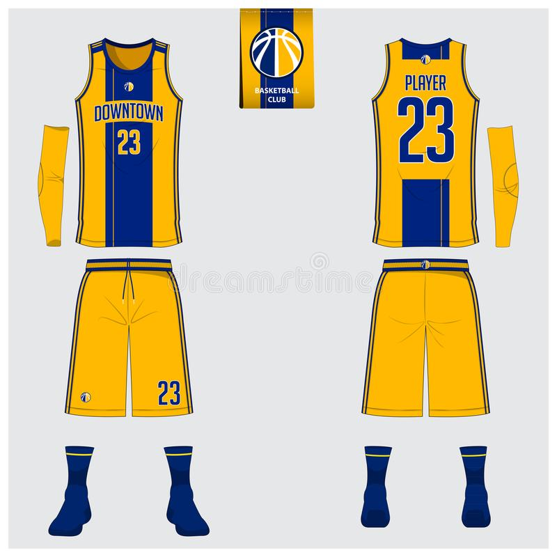 Basketball Jersey, Shorts, Socks Template For Basketball Club Stock