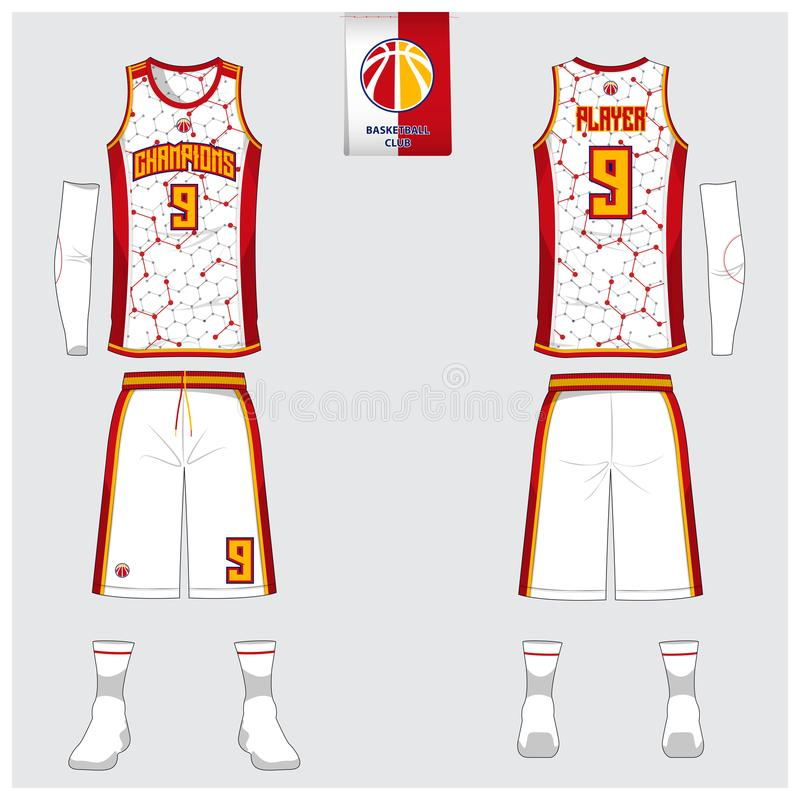 Basketball Jersey, Shorts, Socks Template For Basketball Club Front