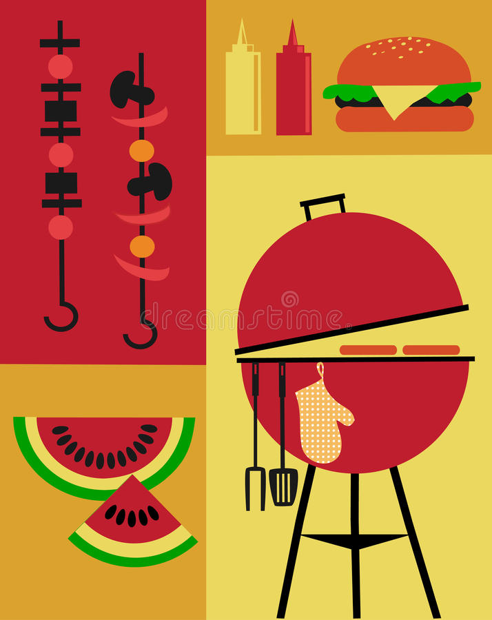 Bbq Party Invitation Template Stock Vector - Illustration of outdoor - bbq invitation template