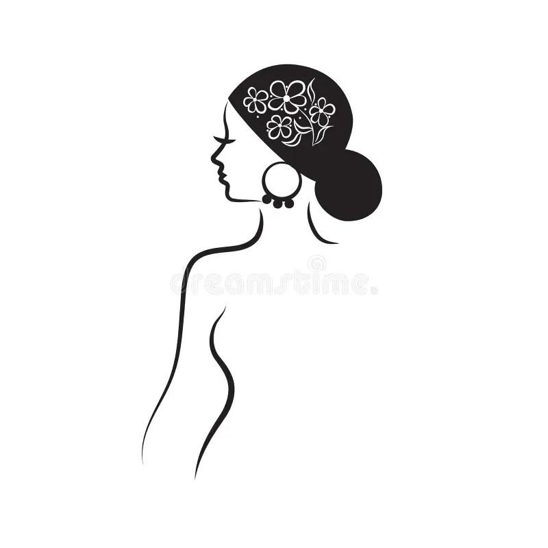 Beautiful woman\u0027s profile stock vector Illustration of card - 57142746