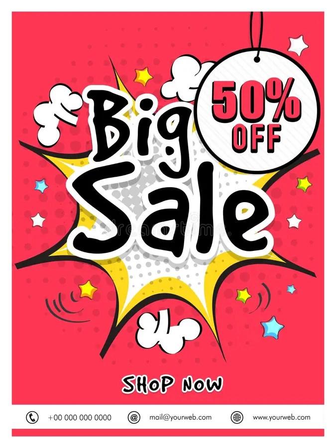 Big Sale Flyer, Banner Or Poster Design Stock Illustration - sale poster design