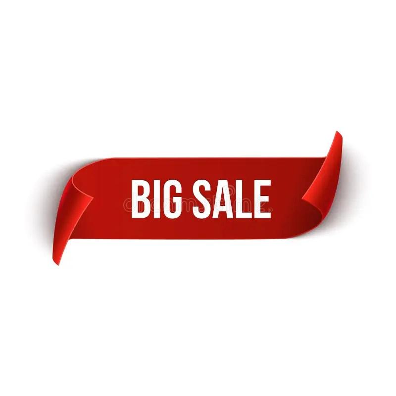 Big Sale Vector Ribbon Design Template Banner Sale Tag Market - sale tag template