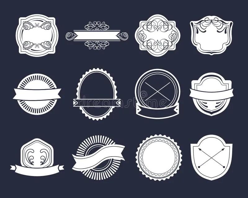 Big Vector Set Of Vintage Labels, Hipster Logo Elements, Ribbons - hipster logo template