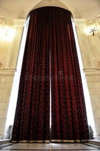 Big window curtains stock photo. Image of transparent ...