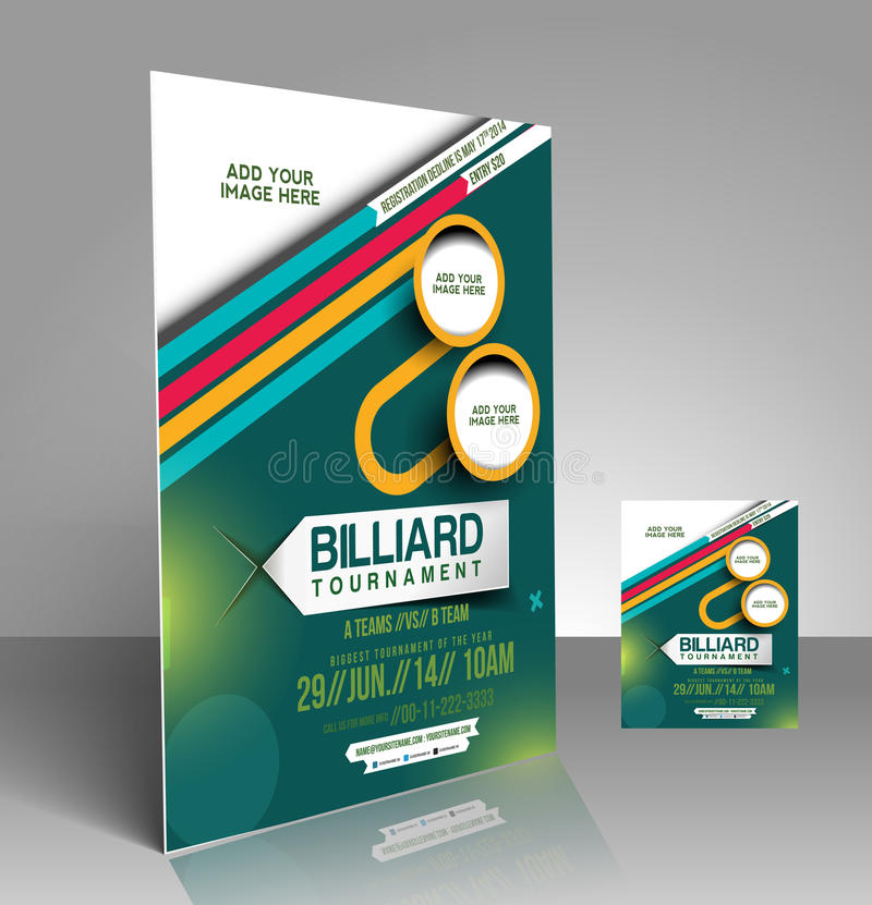 Billiard Competition Flyer stock vector Illustration of beautiful - competition flyer template