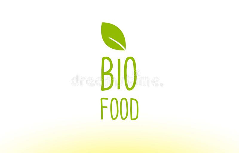 Bio Food Green Leaf Text Concept Logo Icon Design Stock Vector - Company Bio Template