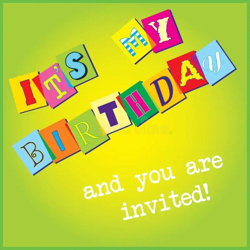 Birthday Invitation Template Stock Vector - Illustration of - downloadable birthday invitation templates