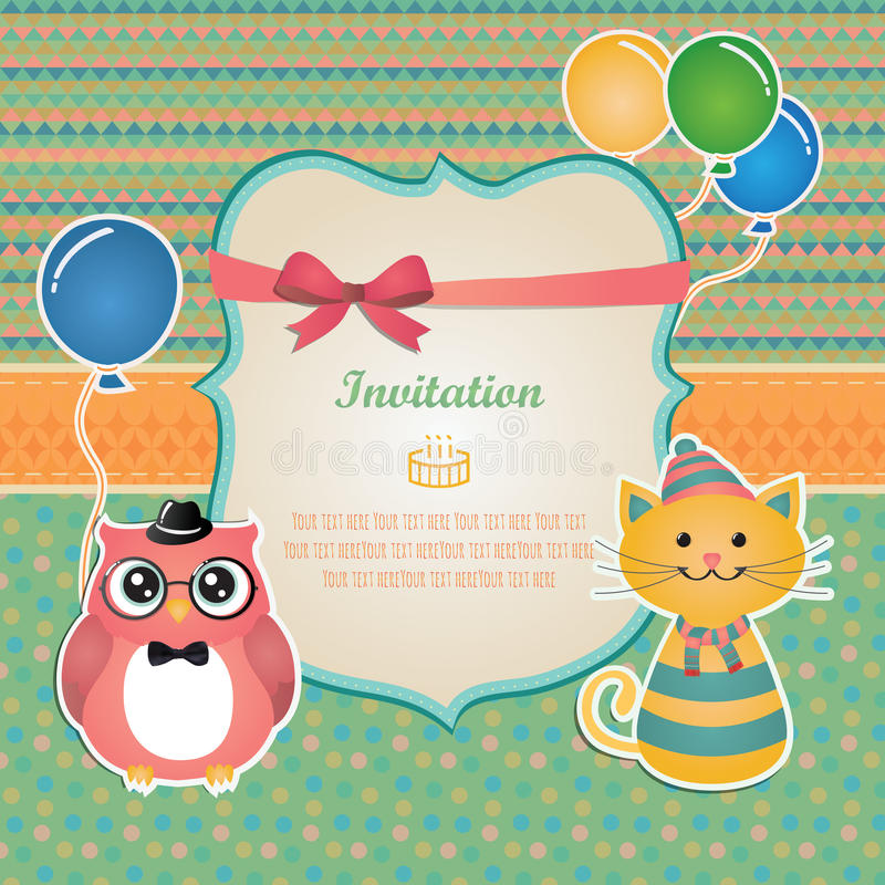 Birthday Party Invitation Card Design Stock Vector - Illustration of - birthday party design