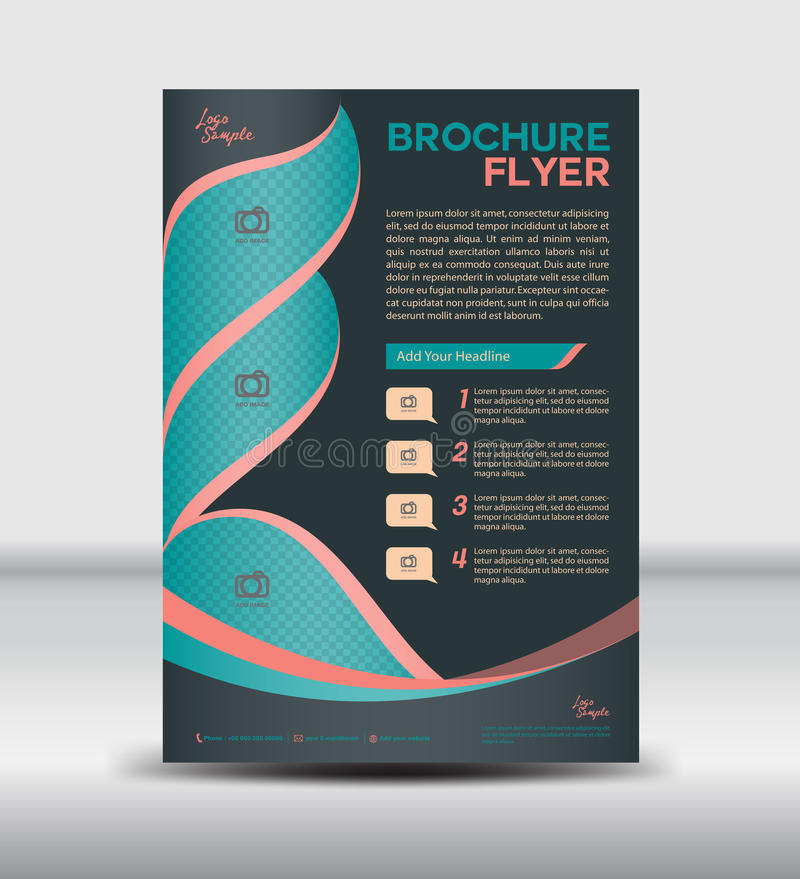 Black Brochure Flyer Template,newsletter Design, Leaflet Template - leaflet template