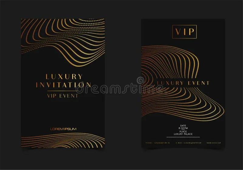 Black Gold Luxury Invitation For VIP Event Elegant Greeting Card
