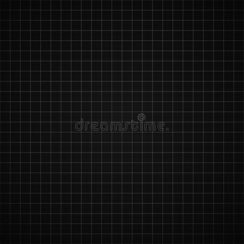 Black Graph Paper Background Stock Vector - Illustration of paper