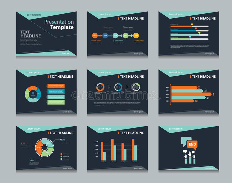 Black Infographic Powerpoint Template Design Backgrounds  Business - presentation template
