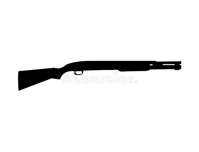 pump action shotgun pumpgun stock vector