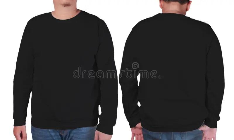 Black Sweater Long Sleeved Shirt Mockup Template Stock Image - Image