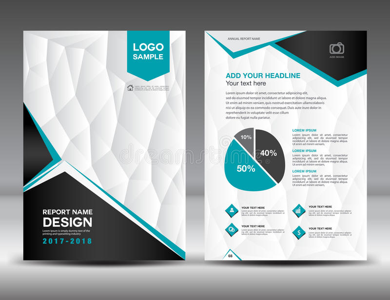 Black And White Cover Annual Report Brochure Flyer Template Stock - black and white flyer template