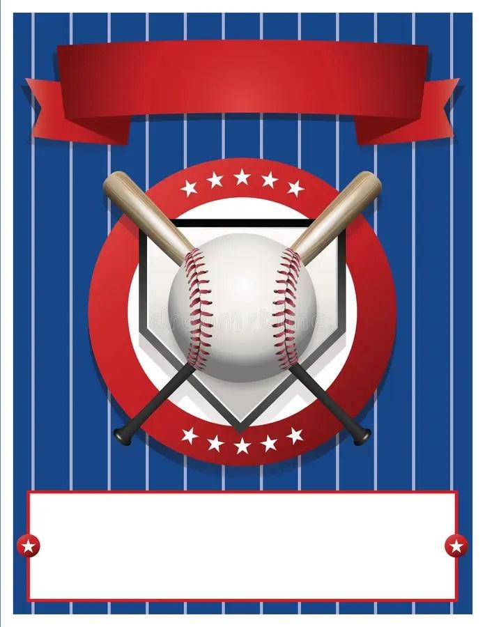 Blank Baseball Flyer Template Illustration Stock Vector