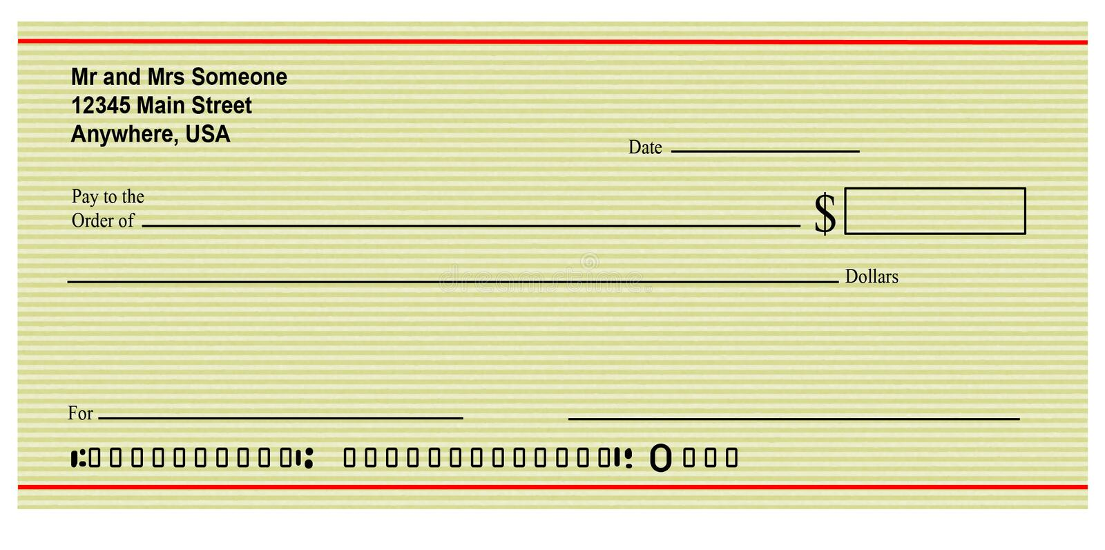 Blank Check stock illustration Illustration of blank - 4237029