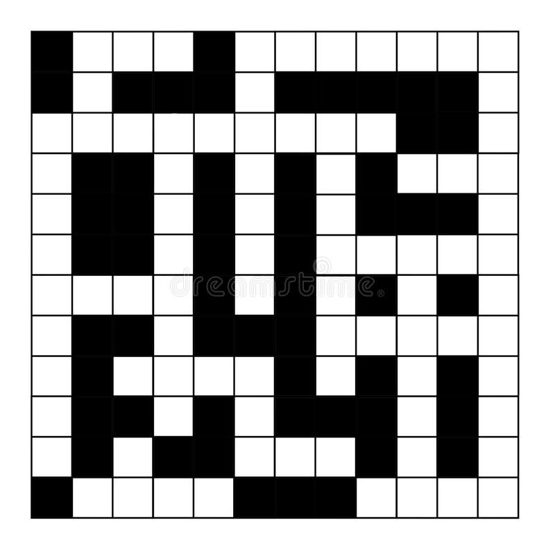 Blank crossword puzzle stock illustration Illustration of puzzling - blank crossword template