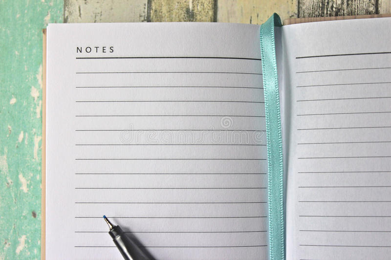 Blank diary page with pen stock image Image of blank - 48942165 - blank diary page