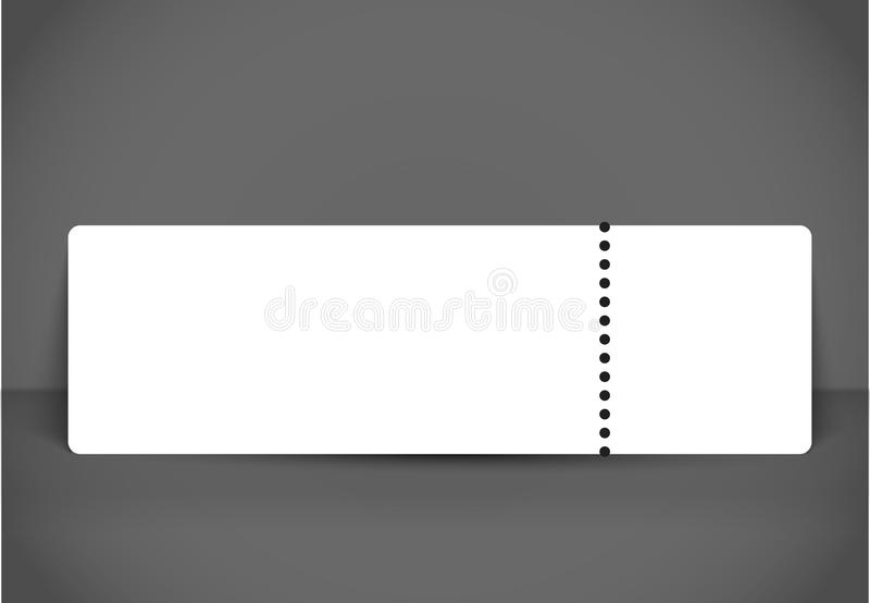 Blank Event Concert Ticket Mockup Template Concert, Party Or
