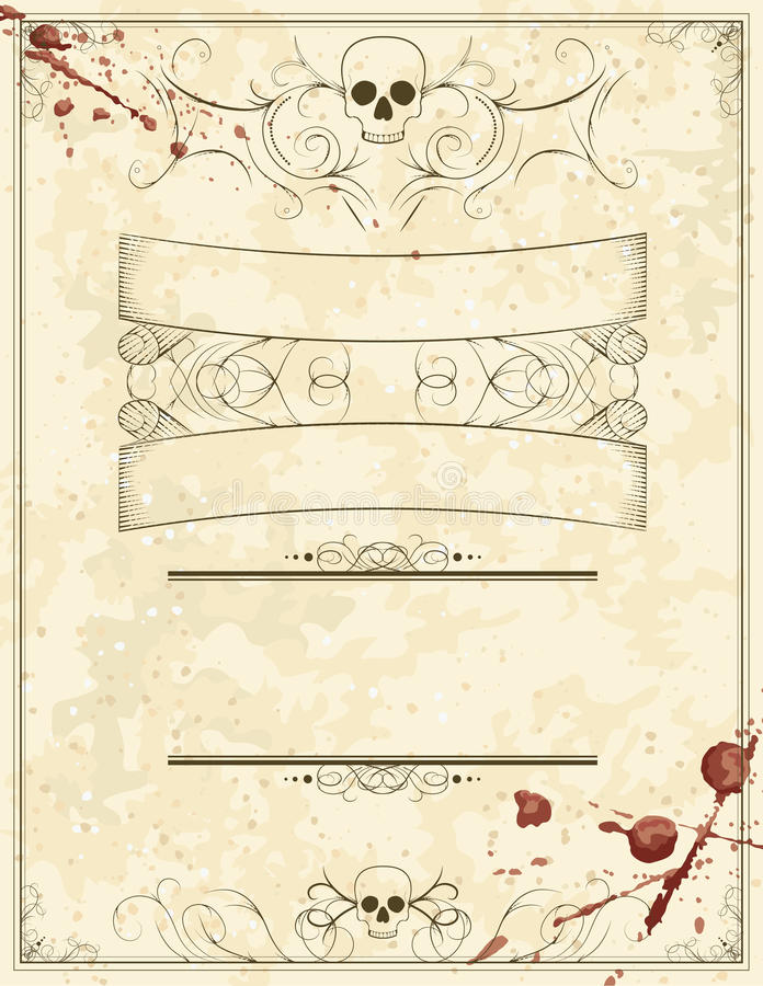 Blank Halloween Horror Flyer Stock Vector - Illustration of drawn - blank halloween flyer templates
