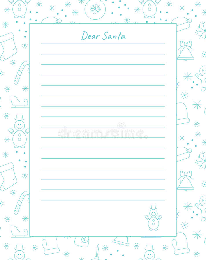 Blank of letter stock vector Illustration of ball, santa - 79368586