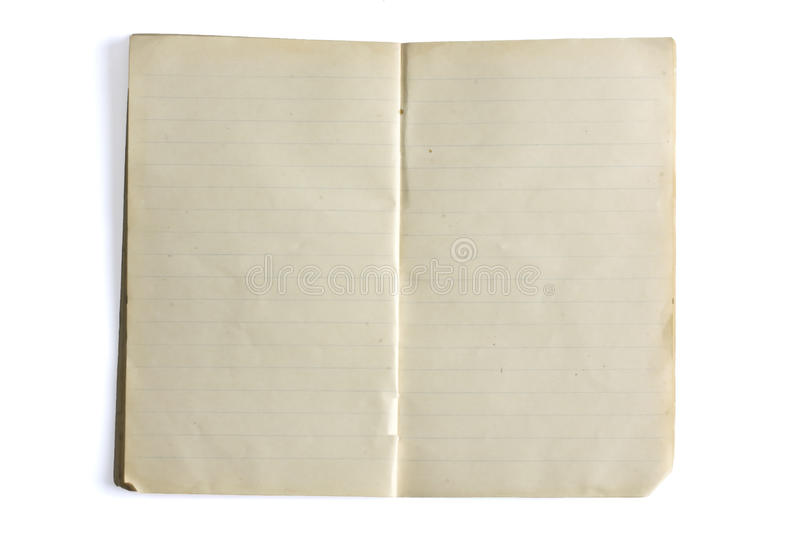 Blank Lined Old Exercise Book Stock Photo - Image of paper, color