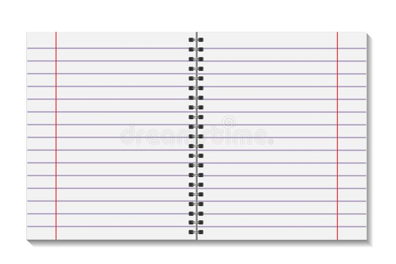 Blank Open Pages Book With Binder Metal Spiral Template A Sheet Of - blank sheet of paper with lines
