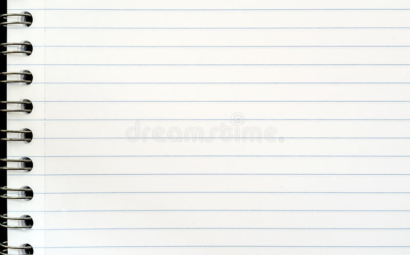 Blank page stock image Image of text, spiral, diary - 58667425 - blank diary page